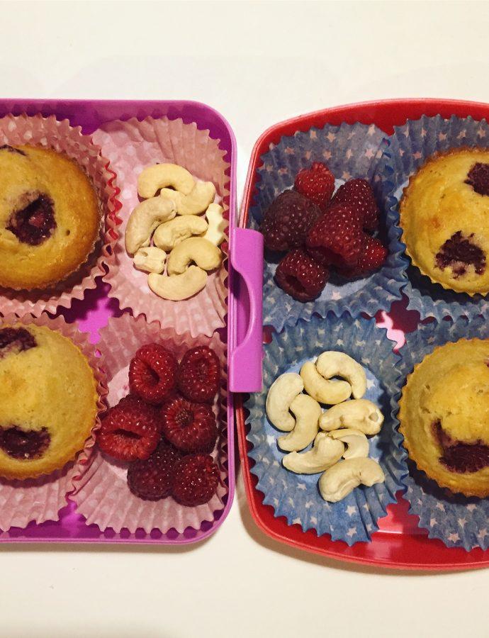 Jaglane muffinki z malinami