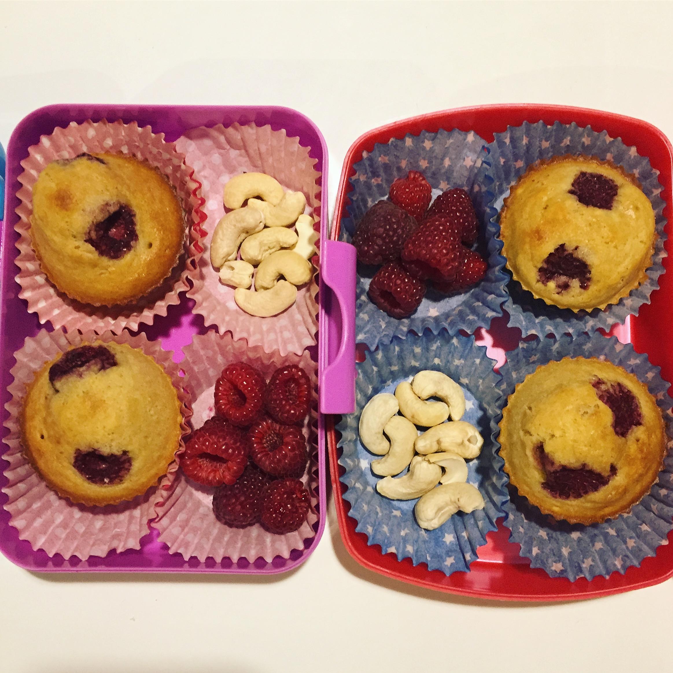 pomysły na lunchbox dla dzieci do szkoły Jaglane muffinki z owocami