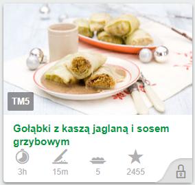 Gołąbki z kaszą jaglaną i sosem grzybowym