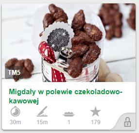 Migdały w polewie czekoladowo-kawowej cookidoo thermomix