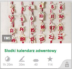 słodki kalendarz adwentowy cookidoo thermomix