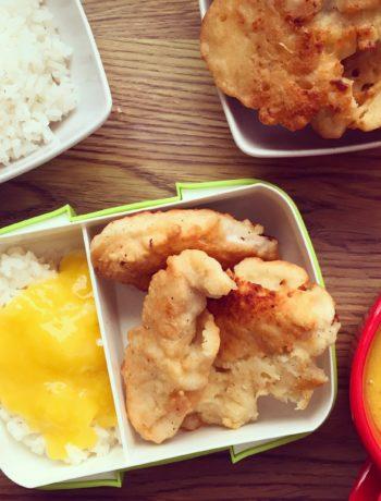 lunchboxy do szkoły Kurczak w cieście ryżowo-kokosowym z sosem mango thermomix przepisy