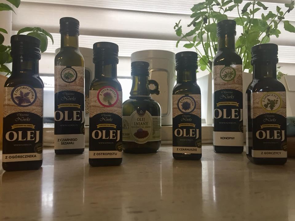 oleje nierafinowane roślinne pachnie i chrupie