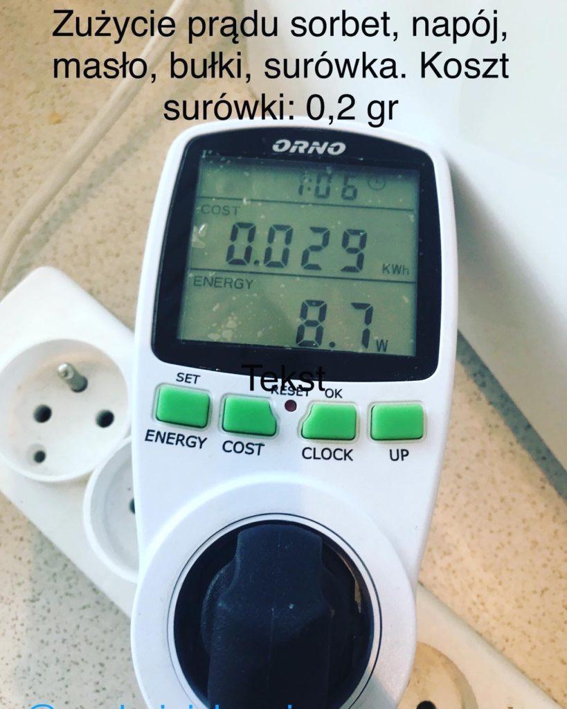 zuzycia prądu przez thermomixa