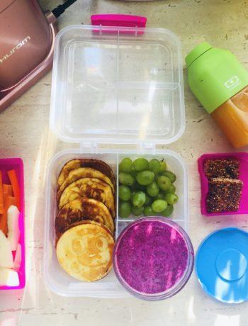lunchbox do szkoły placki z kaszy mannej
