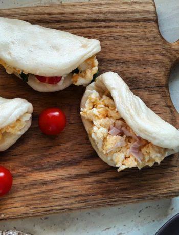 bułeczki bao z jajecznicą